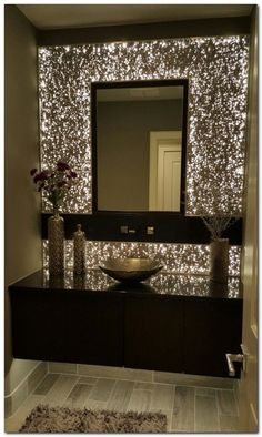 Beautiful Breathtaking Powder Room Ideas - Avionale Design 10 Gorgeous and Modern Powder Room Design Ideas We shares powder room design and decorating ideas in every style, including vanities, sinks, mirrors, decor and more. Powder Room Small, Decor, Modern Powder Rooms, Small Decor, Home Decor Styles, Bath Decor, Bathroom Mirror, Powder Room Design, Mirror