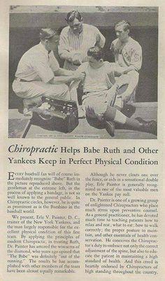 La #chiropratica aiuta Babe Ruth e altri giocatori degli Yankees a mantenersi in perfetta #forma fisica. #chiropratica_pescara                                                                                                                                                     More