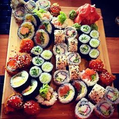 Rustic platter of Sushi!