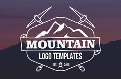 25 Mountain Logo Templates by mehibi on Creative Market