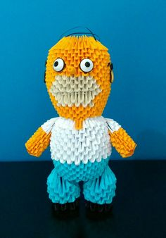 Homero Simpson, Origami 3D