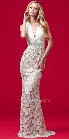 Embellished Empire Waist Evening Dress by Mac Duggal  #edressme