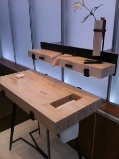 Bathroom Sink and Shelf by Aaron Heisler, SCAD professor of furniture design.  http://www.scad.edu/exhibitions/view/2012/furniture-selections.cfm