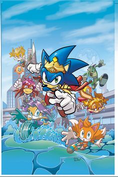 Sonic Universe 8 cover by ~Yardley on deviantART