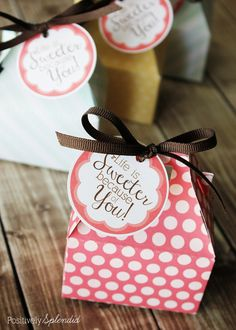 free printables to package up sweet treats