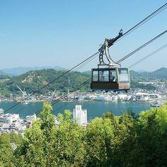 【n_atamo3】さんのInstagramをピンしています。 《#海 #空 #ロープウェイ #風景 #自然 #広島 #sea #sky #ropeway #nature #view #scene #scenery #japan #japan_daytime_view》