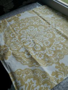 Yellow gold cushion cover , pottery barn