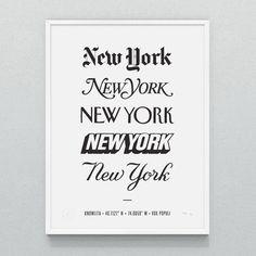 "New York ""5"" Print - Measures 18"" x 24"""