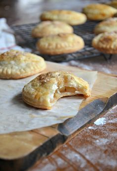 Apple ginger hand pies are the perfect bite sized dessert. Apple hand pie recipe with crystalized ginger and the flakiest, butter crust. Bite Size Desserts, Just Desserts, Dessert Recipes, Empanadas, Apple Recipes, Sweet Recipes, Fun Recipes, Delicious Recipes, Recipies