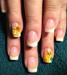 Flowers are the most typical design for summer. Summer is for sun so nails should be colorful and bright. Sunflower is the classic summer nail art design to make your summer more alive because of its yellow color which is the sign of positivity. Get ready for spring party with sunflower nail art that will ultimately beautify your hands and match the atmosphere of space. Here are 88 amazing sunflower nail art ideas for your trendy look in summer. images via www.pinterest.com