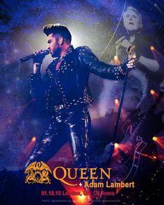 Gorgeous! Poster 01.18.15 London, UK – O2 Arena @QueenWillRock + @adamlambert.