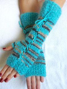 Corset guantes sin dedos guantes calentadores de por LaimaShop