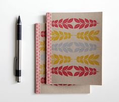 Graphic Leaves Journal by cutiepiecompany // maybe to add to my sick obsession with collecting journals