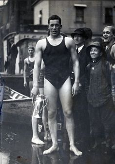SWIMMING: Norman Ross won three gold medals at the 1920 Olympics. He set 12 world records at international distances and won 18 AAU championships. He swam for Stanford and later attended Northwestern Law School.