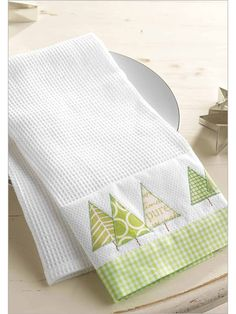 Winter Forest Tea Towel - Interweave - by Lisa Cox