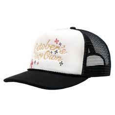 885c575d6f0b Men s   Women s October s Very Own Script Trucker Mesh Back Baseball Hat -  White   Black