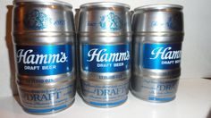 Hamm's Beer cans -