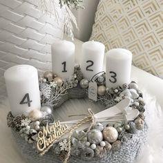 Kötött Adventi koszorú, Dekoráció, Ünnepi dekoráció, Karácsonyi, adventi apróságok, Karácsonyi dekoráció, Mindenmás, Meska