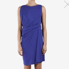 ❗️1NightSale! Cut25 Yigal Azrouel Draped Dress Cut25 by Yigal Azrouel, NWT $345  Color: blue Size: xs  Details: matte jersey dress (rayon) with flattering drapery, pull-on style Measurements: Length - 37'' Condition: New With Tags Cut25 by Yigal Azrouel Dresses
