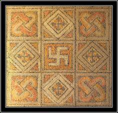 Mosaico en la Olmeda , Saldaña , Burgos  Mosaic in Villa Romana in La Olmeda…