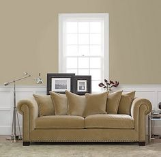Latte by Restoration Hardware. Good color choice for living room.