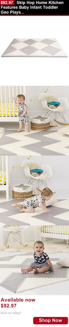 Baby gyms and play mats: Skip Hop Home Kitchen Features Baby Infant Toddler Geo Playspot Foam Floor Tile BUY IT NOW ONLY: $92.97