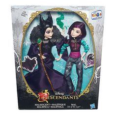 Disney Descendants Two-Pack Mal Isle of the Lost and Maleficent Dolls The Descendants, Disney Descendants Dolls, Disney Dolls, Barbie And Ken, Barbie Dolls, Dreamworks, Pixar, Mal And Evie, Isle Of The Lost