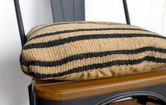 Medee Chair Cushion in Ink