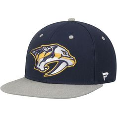 324af9f5db0 Men s Navy Nashville Predators Letterman Snapback Hat. Snapback HatsPredator Nhl ...