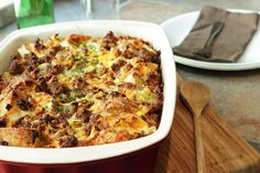Breakfast Sausage And Egg Casserole