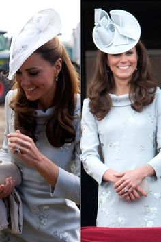 Kate Middleton recycles Erdem dress for friend's wedding in Oxfordshire and trooping the colour in 2012
