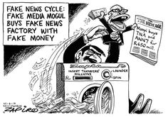 Fake News Cycle Political Satire, Fake News, Age, Cartoons, Humor, Editorial, Cartoon, Cartoon Movies, Humour