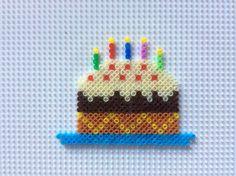 Birthday cake, tarta de cumpleaños con hama beads