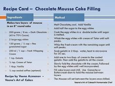 chocolate mousse cake filling
