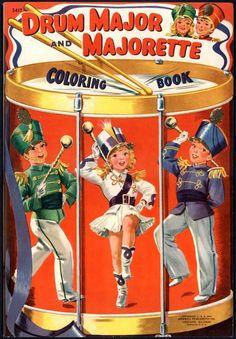 "Merrill Archive Copy ""Drum Major and Majorette Coloring Book"" 3417 1941 M384   eBay"
