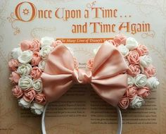 Pre-Order Cute Floral Minnie Mouse Ears Peach and by lubyandlola