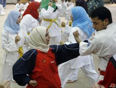 Egyptian women are learning martial arts as a way of defending themselves from groping on the streets