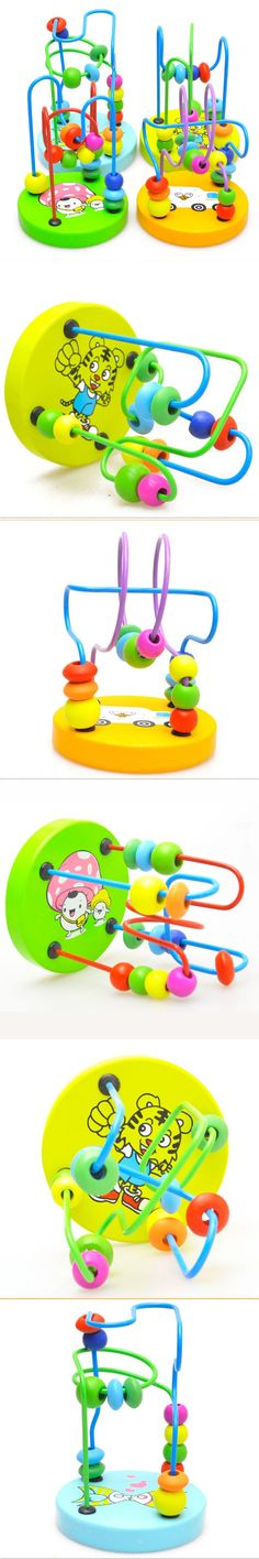 Mini Wooden Small Around Beads Baby Toys Around The Early Childhood Educational Toys Hands-on Brain Toys Visual Listening Toys $8.33