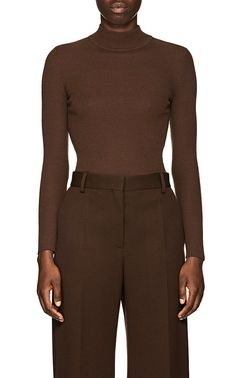 a3246fd9558 The Row Steve Rib-Knit Wool Mock Turtleneck Sweater