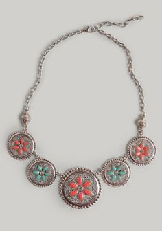 Global Travels Medallion Necklace