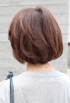Variety of Back View Short Brown Bob Hairstyle hairstyle ideas and hairstyle options. If you are looking for Back View Short Brown Bob Hairstyle hairstyles examples, take a look. Thin Hair Haircuts, Long Face Hairstyles, Short Bob Haircuts, Hairstyles For Round Faces, Short Hairstyles For Women, Wedge Hairstyles, Layered Haircuts, Short Hair Over 60, Short Wavy Hair