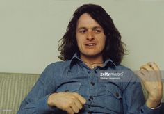 Jon Anderson of Yes being interviewed in 1974 in Amsterdam, Netherlands.