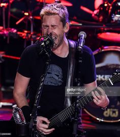 Musician Chad Kroeger of Nickelback performs at iHeartRadio Theater on November 18, 2014 in Burbank, California.