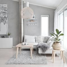 Gorgeous White Living Room Color Scheme That Will Amaze You - wohnzimmer ideen Living Room White, Living Room Interior, Small Living, Modern Living, Interior Livingroom, Cozy Living, Living Area, Design Lounge, Living Room Color Schemes