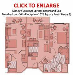 Disney s Saratoga Springs Resort   Spa Two Bedroom Villa LayoutDisney Orlando hotel 2 bedroom apartment floor plans   Google  . 2 Bedroom Hotels At Disney World. Home Design Ideas