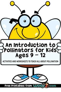 An Introduction to Pollinators for Kids Ages 9 - 12 Bee Activities, Classroom Activities, Teacher Worksheets, Worksheets For Kids, Night Blooming Flowers, Green School, Parts Of A Flower, Home Learning, Brain Teasers