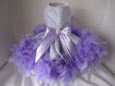 Dog Dress  XS   Lavender  By Nina's Couture by NinasCoutureCloset, $120.00