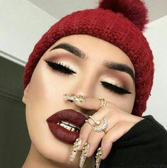 😍makeup nails on point 💞 Makeup On Fleek, Kiss Makeup, Flawless Makeup, Makeup Geek, Makeup Inspo, Makeup Art, Makeup Addict, Makeup Inspiration, Beauty Makeup