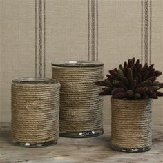 Made these from tin cans and jute, and you cannot tell the difference!