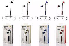 Wireless Bluetooth 4.1 Earphone HIFI Stereo Sport Running Headset Sweatproof With Mic